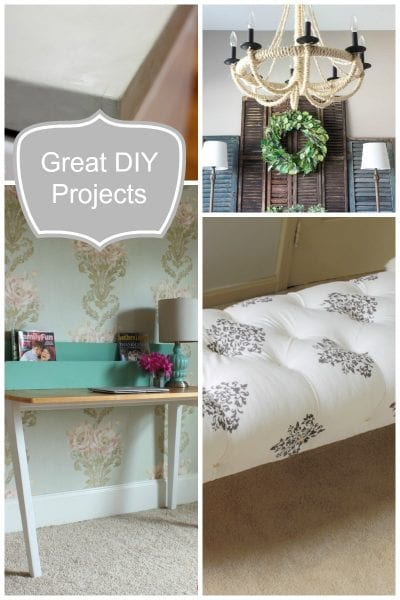 Get your DIY on with these great projects! Build a desk, revamp a light fixture, make your own bench, plus beautiful room makeovers and more!
