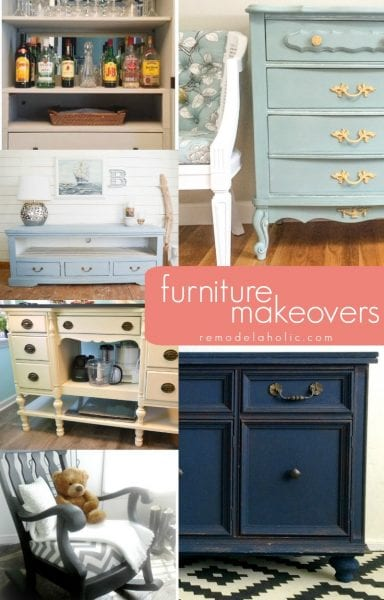 Great furniture makeovers and upcycles @Remodelaholic