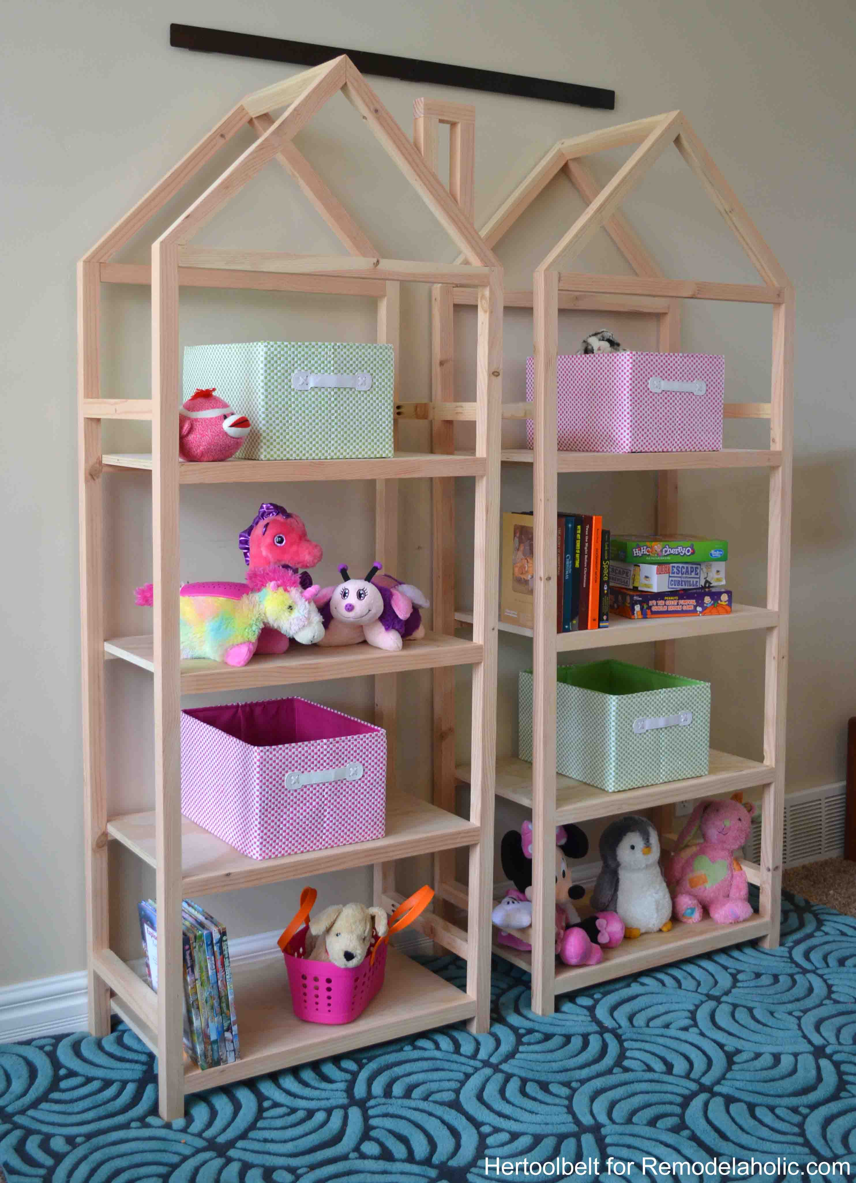 Get Organized With These Adorable House Frame Bookshelves Free And Easy Plans To Build A