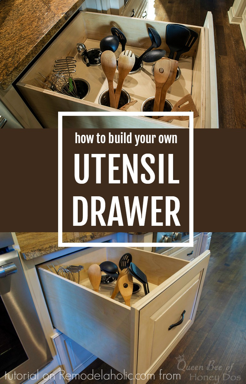 Kitchen Drawer Organizer Diy Upright Utensil Drawer Organizer Remodelaholic Bloglovin