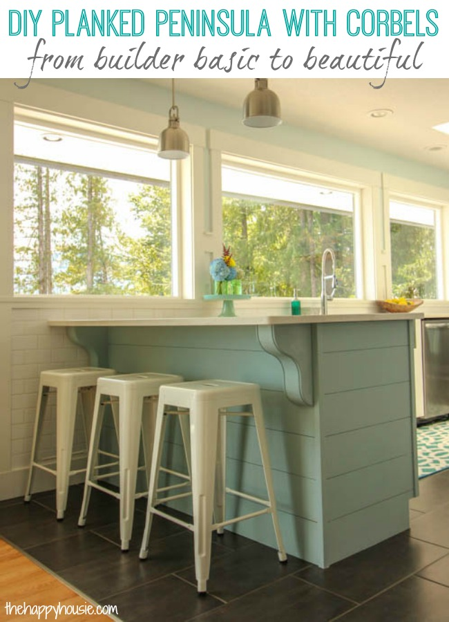 Kitchen Island Update remodelaholic | update a plain kitchen island or peninsula with