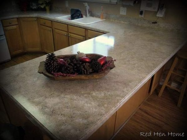 Korrie Red Hen Home Giani granite painted countertop review featured on Remodelaholic.com