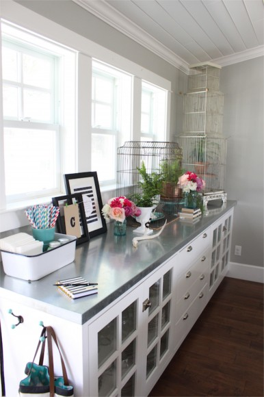 Lindsey The Pleated Poppy semi DIY galvanized metal countertop review