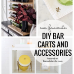 Make Your Own Personalized Bar Car With These DIY Ideas And Accessories Featured On Remodelaholic.com