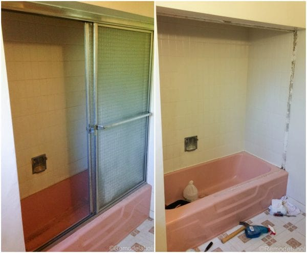 Removing the shower doors