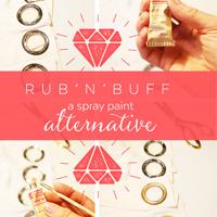 Rubb'n'Buff Spray Paint Alternative on Petite Modern Life