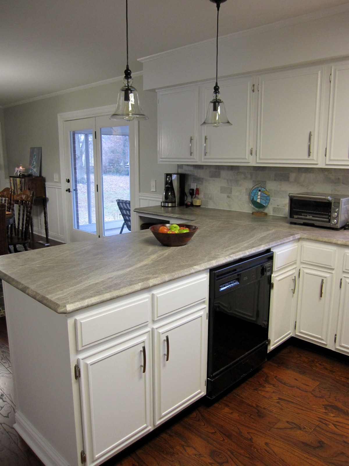 Laminate Bar Countertops : Allie?s new soapstone-look laminate countertops were installed about ...