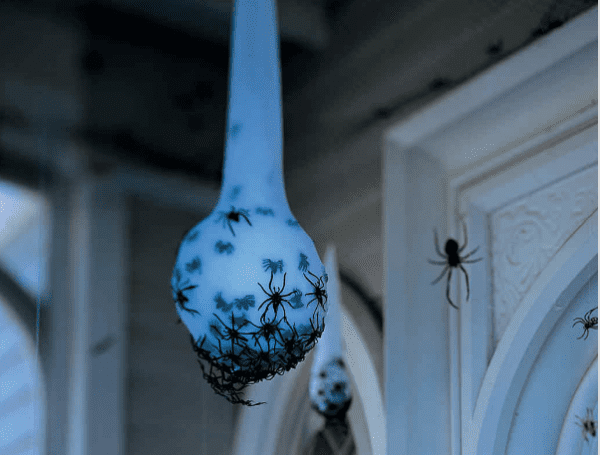 Spider Egg Sack by Martha Stewart Outdoor Halloween Decorations