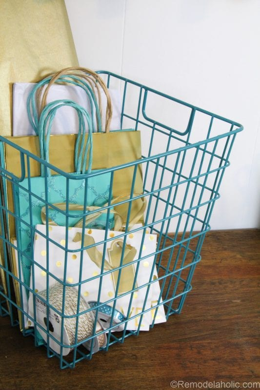Super Easy DIY Wrapping Paper Center @remodelaholic (14 of 20)