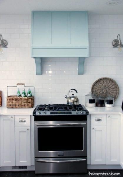 remodelaholic kitchen renovation and diy range hood tutorial. Black Bedroom Furniture Sets. Home Design Ideas