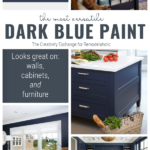 The Perfect Dark Blue Paint Looks On Good On Walls, Kitchen Cabinets, And Furniture! By The Creativity Exchange On Remodelaholic