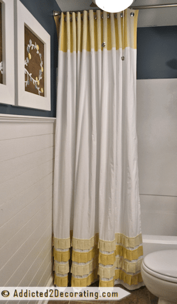 add pleated ruffle accents to white curtains