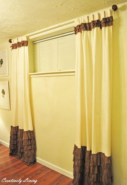 add ruffles white curtains