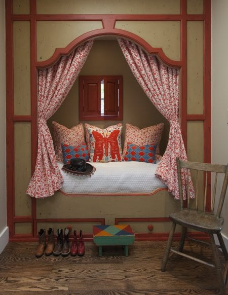 bed in nook