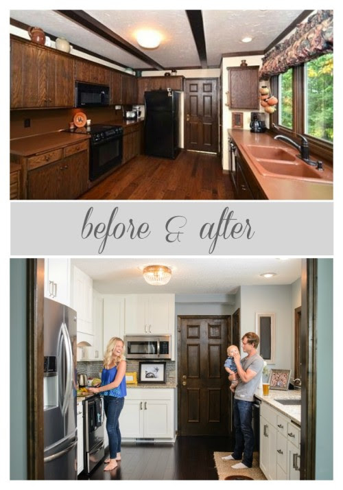 before and after kitchen renovation, construction2style on @Remodelaholic