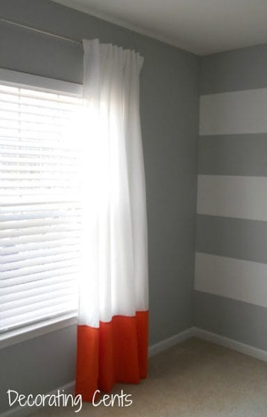 color block white curtains add fabric at bottom