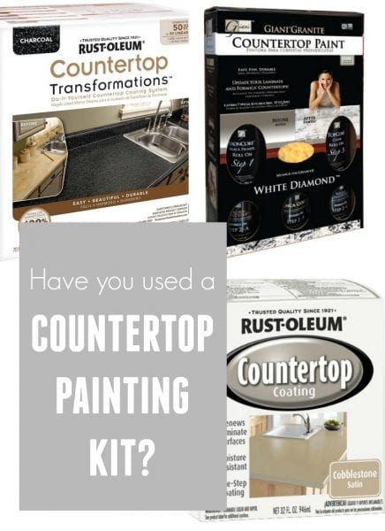 Have you used a countertop painting kit? Read about others experiences featured on Remodelaholic.com