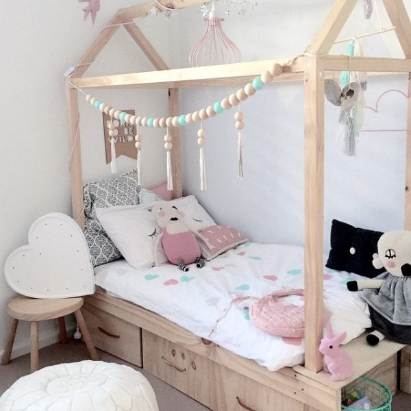 Remodelaholic house shaped beds galore - Kids bed with drawers underneath ...
