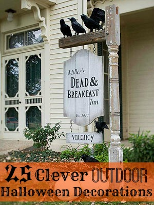 25 Clever Outdoor Halloween Decorations - Tipsaholic