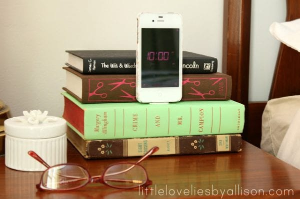 diy charging station book iphone dock