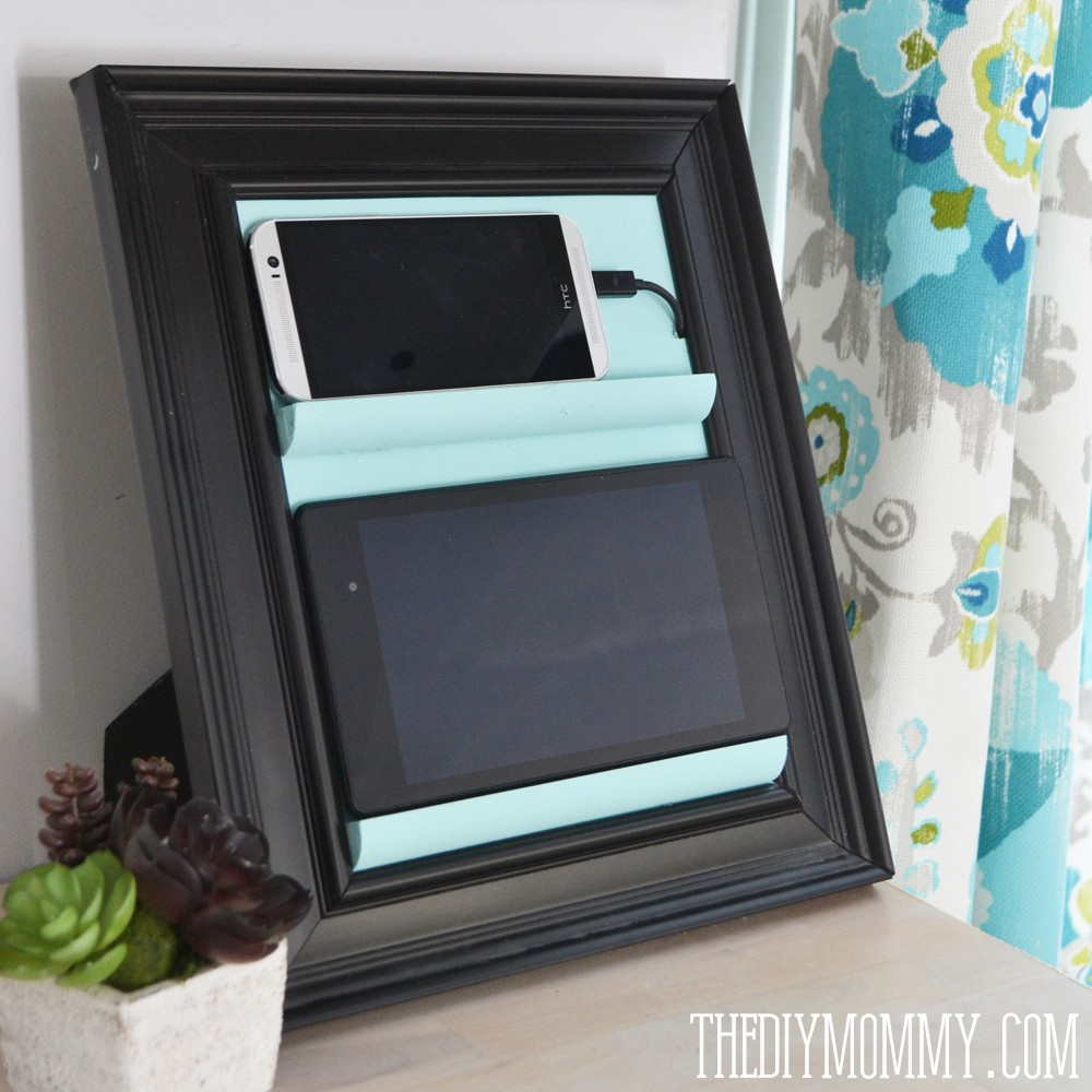 Hanging Charging Station Remodelaholic Get Rid Of Cord Clutter With These 25 Diy Charging