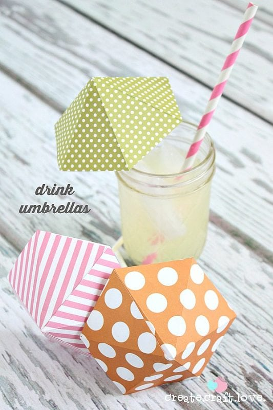diy drink umbrellas
