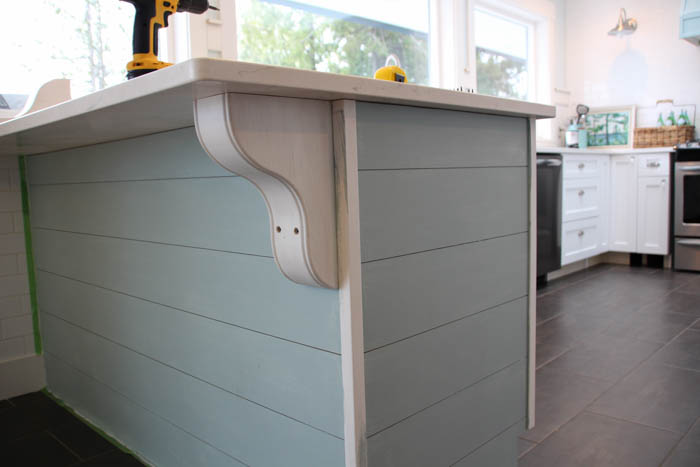 update a plain kitchen island or peninsula with planks and corbels   remodelaholic   bloglovin u0027 update a plain kitchen island or peninsula with planks and corbels      rh   bloglovin com