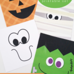 Easy Printable Halloween Monster Face Set For Party Decor Or Tags For Treat Bags, Paperelli For Remodelaholic