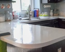 feat Designing Dawn DIY painted and sealed countertops durability review