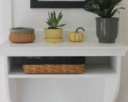 feat How to build a space-saving built-in entryway table Lehman Lane on @Remodelaholic