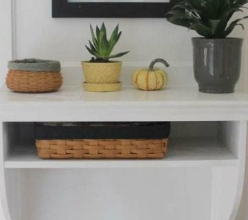 DIY Built-In Entryway Table with Board and Batten
