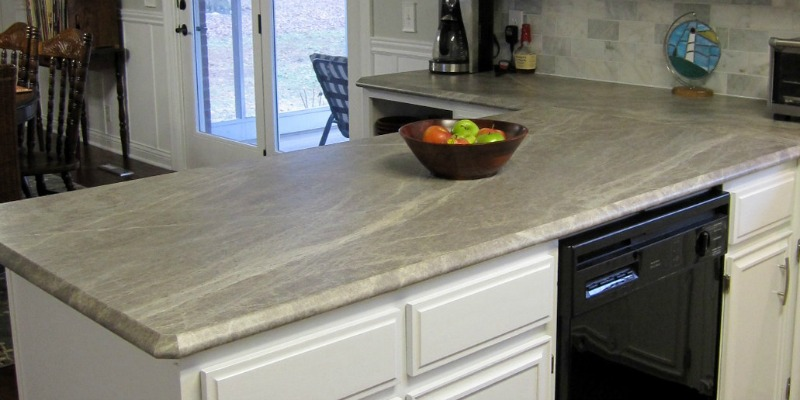 feat Scott and Allie new laminate countertops review