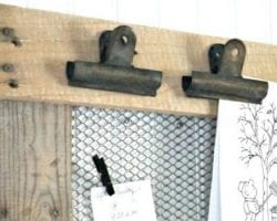 feat rustic farmhouse pallet wood and chicken wire message board Seeking Lavender Lane