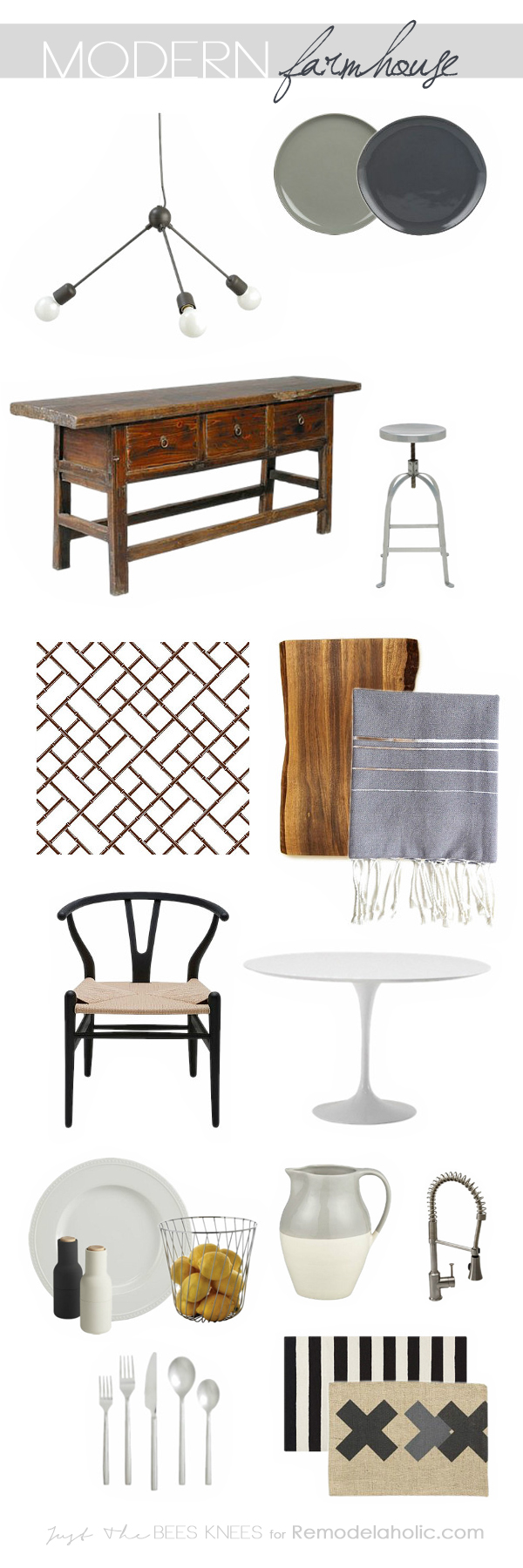 Modern farmhouse style blends the old with the new: clean lines and crisp white mix with rustic weathered wood and metal to create a homey yet chic style for your kitchen. Learn the keys to making this style work in your home here!
