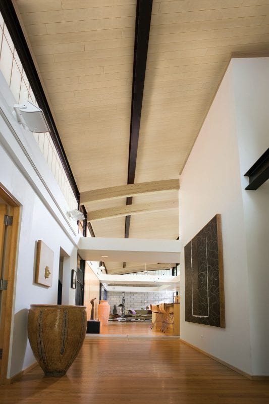 Beautiful planked ceiling