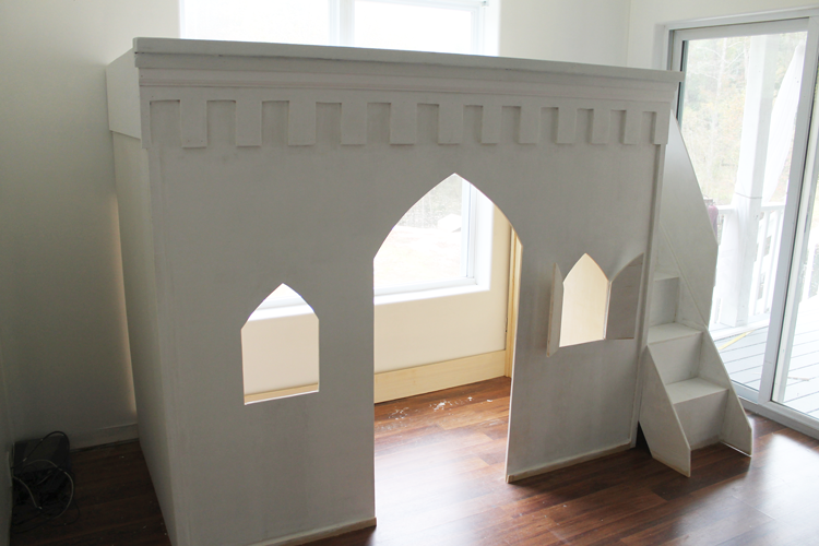 princess-castle-loft-bed