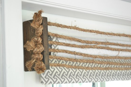 rustic DIY rope and wood window valance Refresh Living