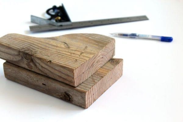 easy DIY wood corbels