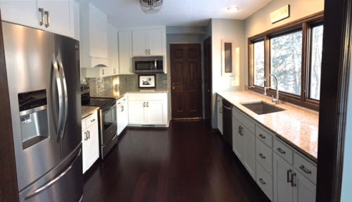 white kitchen remodel, construction2style on @Remodelaholic