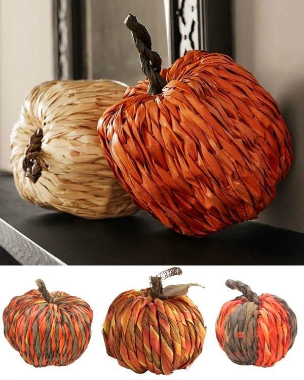 woven pumpkins