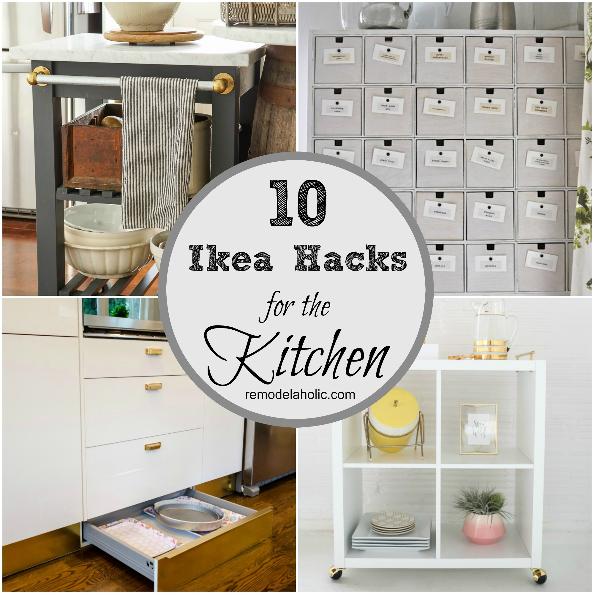 Remodelaholic 10 ingenious ikea hacks for the kitchen Ikea hacking