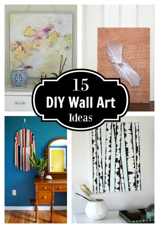 Try your hand at creating your very own DIY wall art with these 15+ ideas and tutorials! Love the watercolors!