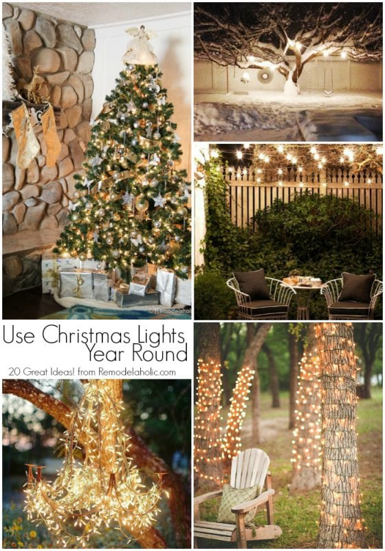 20 great uses for christmas lights year round those inexpensive light strings arent - Year Round Christmas Lights
