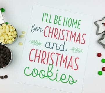 Christmas Print by Paperelli @Remodelaholic