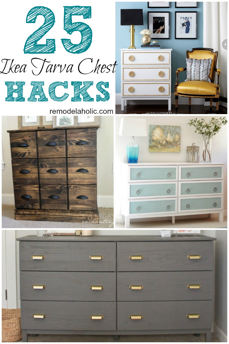 diy ikea hack dresser. Diy Ikea Tarva. 25 Ways To Hack A Tarva Dresser
