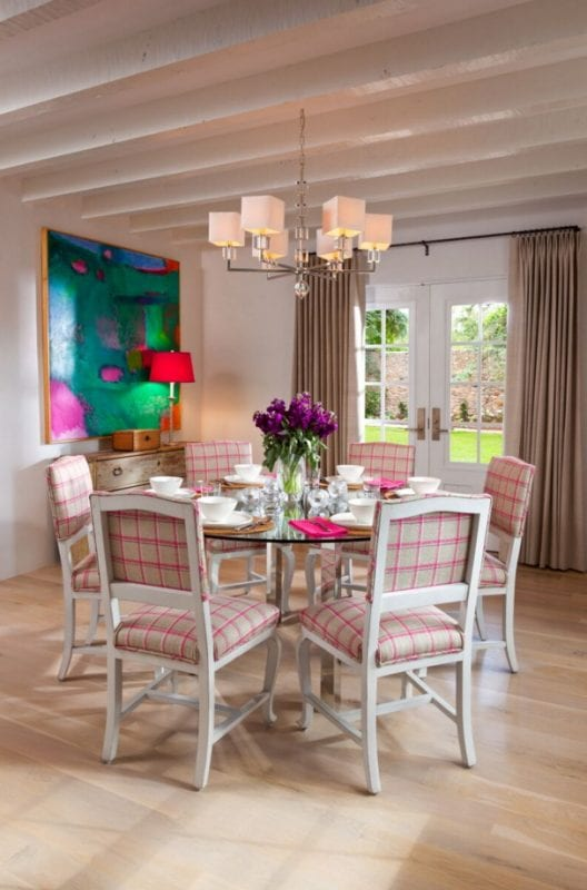 eclectic mixed styles in this dining area by Violante & Rochford Interiors, photo credit © Wendy McEahern