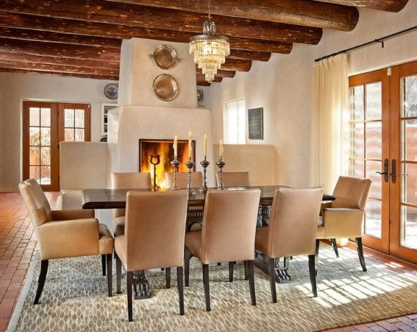 modernized Southwest style dining room by Violante & Rochford Interiors, photo credit © Wendy McEahern