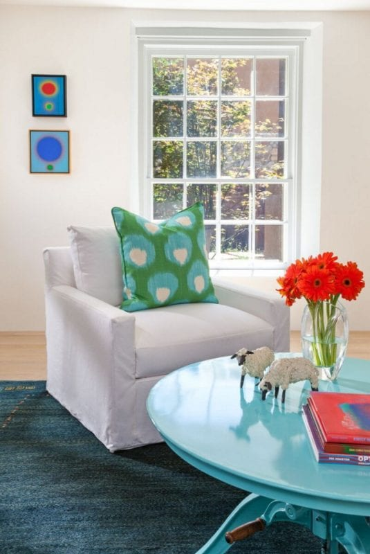 beautiful colorful sitting area in a Southwest home by Violante & Rochford Interiors, photo credit © Wendy McEahern