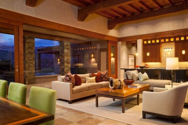 modernized Southwest sitting area by Violante & Rochford Interiors, photo credit © Wendy McEahern