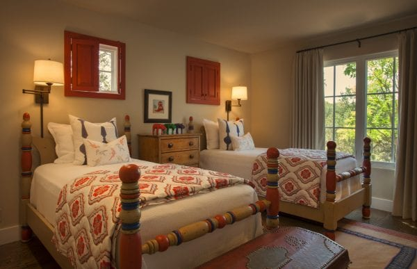 colorful southwestern bedroom by Violante & Rochford Interiors, photo credit © Wendy McEahern